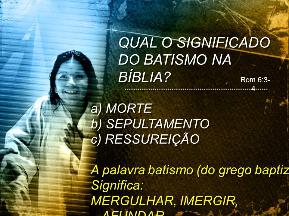 QUAL O SIGNIFICADO DO BATISMO NA BÍBLIA