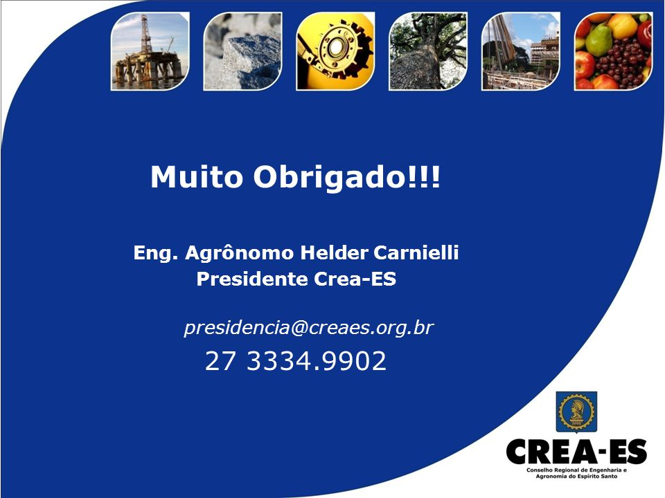 Eng. Agrônomo Helder Carnielli