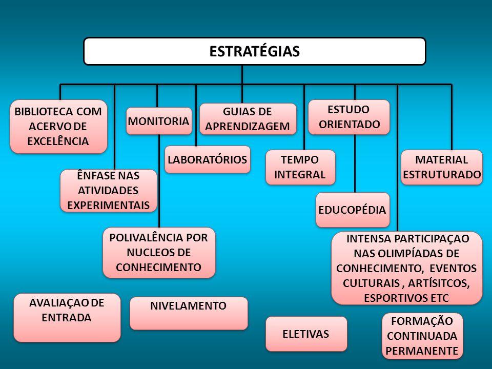 ESTRATÉGIAS BIBLIOTECA COM ACERVO DE EXCELÊNCIA ESTUDO ORIENTADO