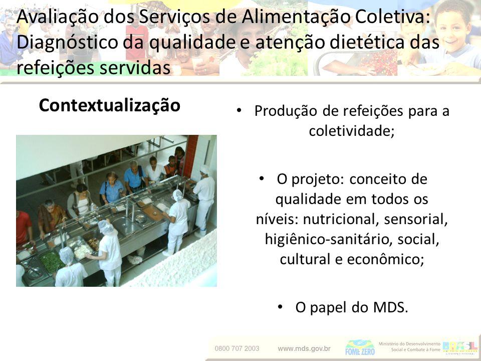 Produção de refeições para a coletividade;