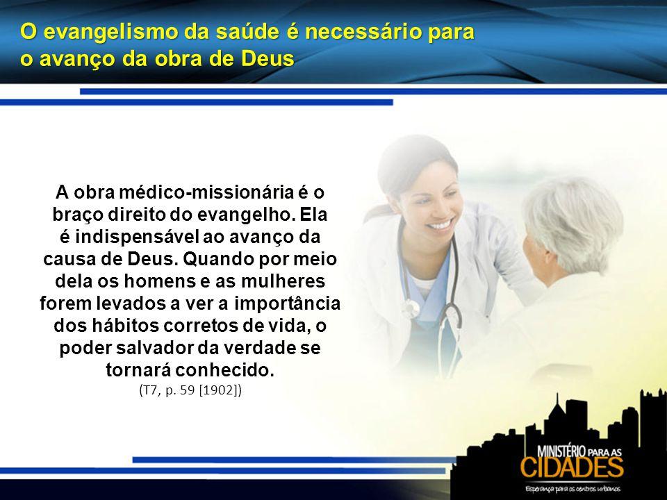 A obra médico-missionária é o braço direito do evangelho. Ela