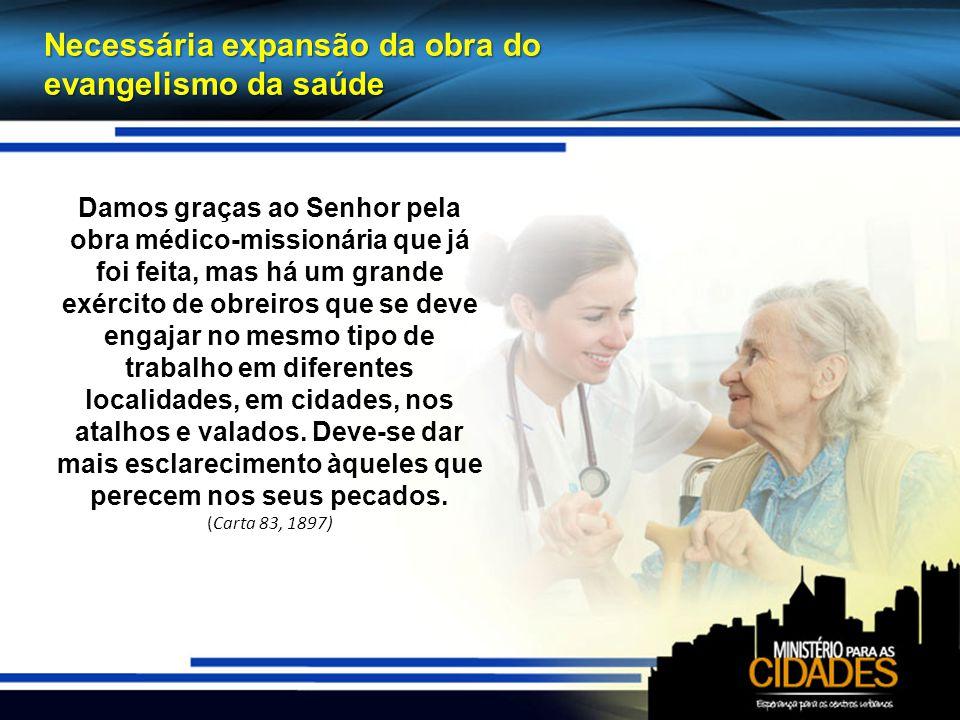 Necessária expansão da obra do evangelismo da saúde
