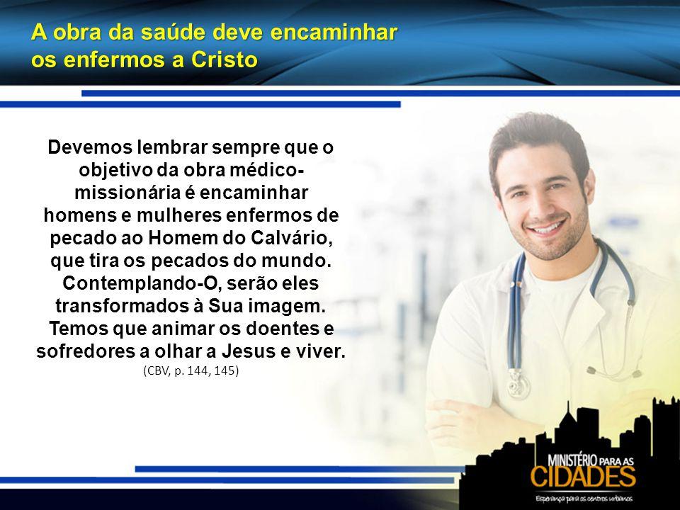 A obra da saúde deve encaminhar os enfermos a Cristo