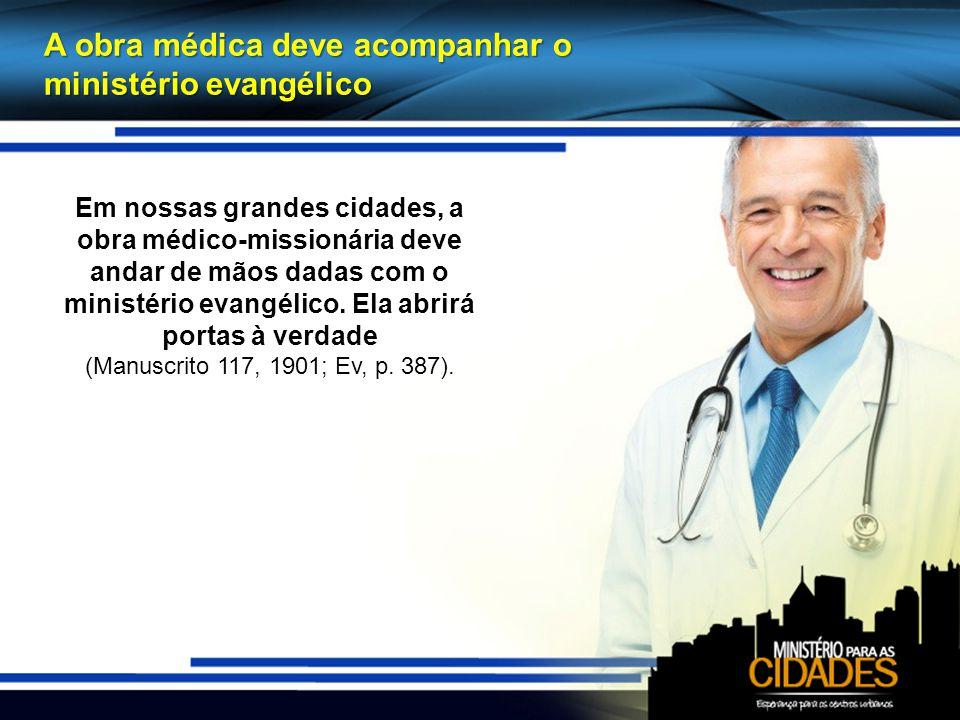 A obra médica deve acompanhar o ministério evangélico
