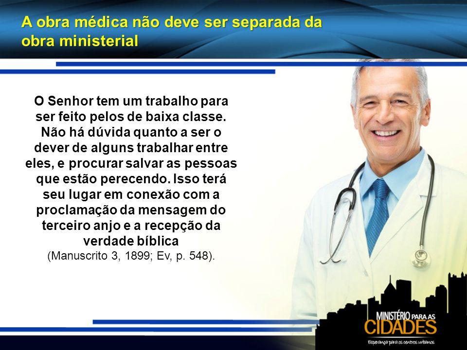 A obra médica não deve ser separada da obra ministerial