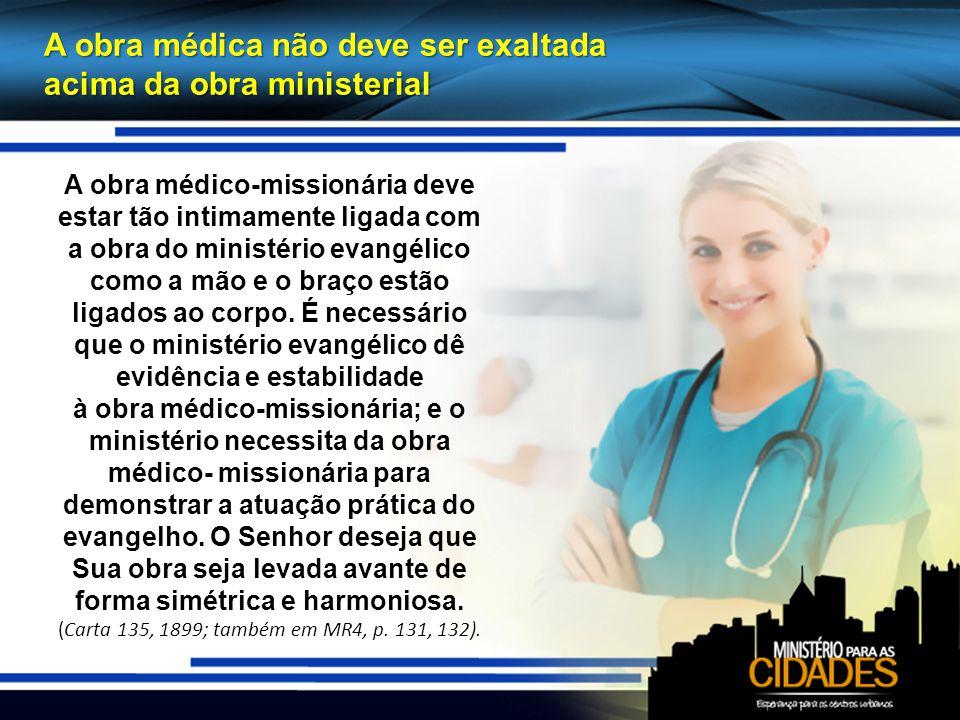A obra médica não deve ser exaltada acima da obra ministerial