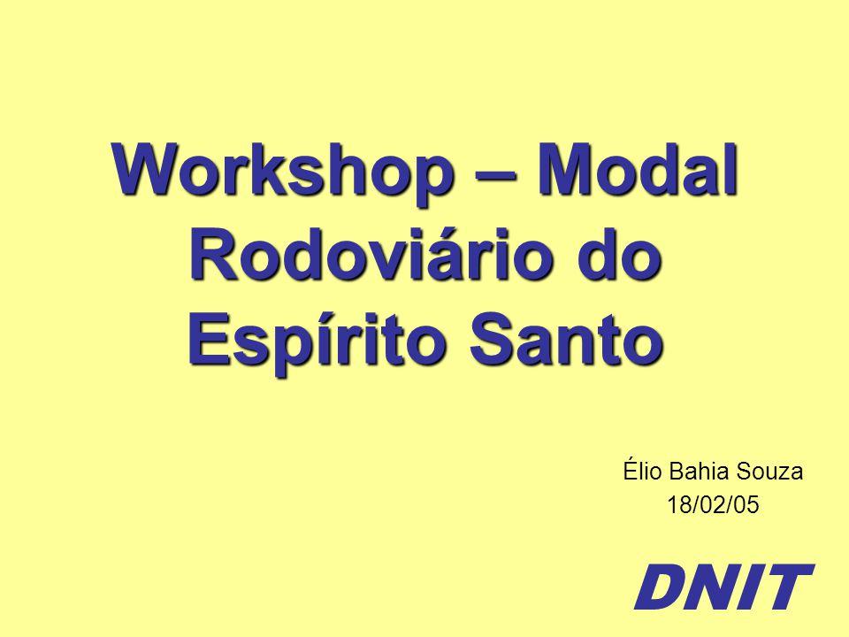Workshop – Modal Rodoviário do Espírito Santo
