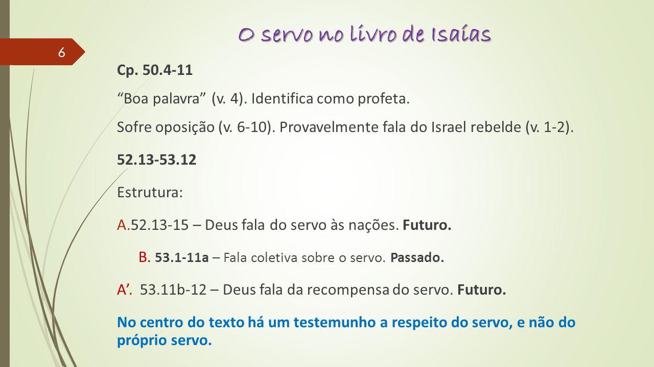 O servo no livro de Isaías