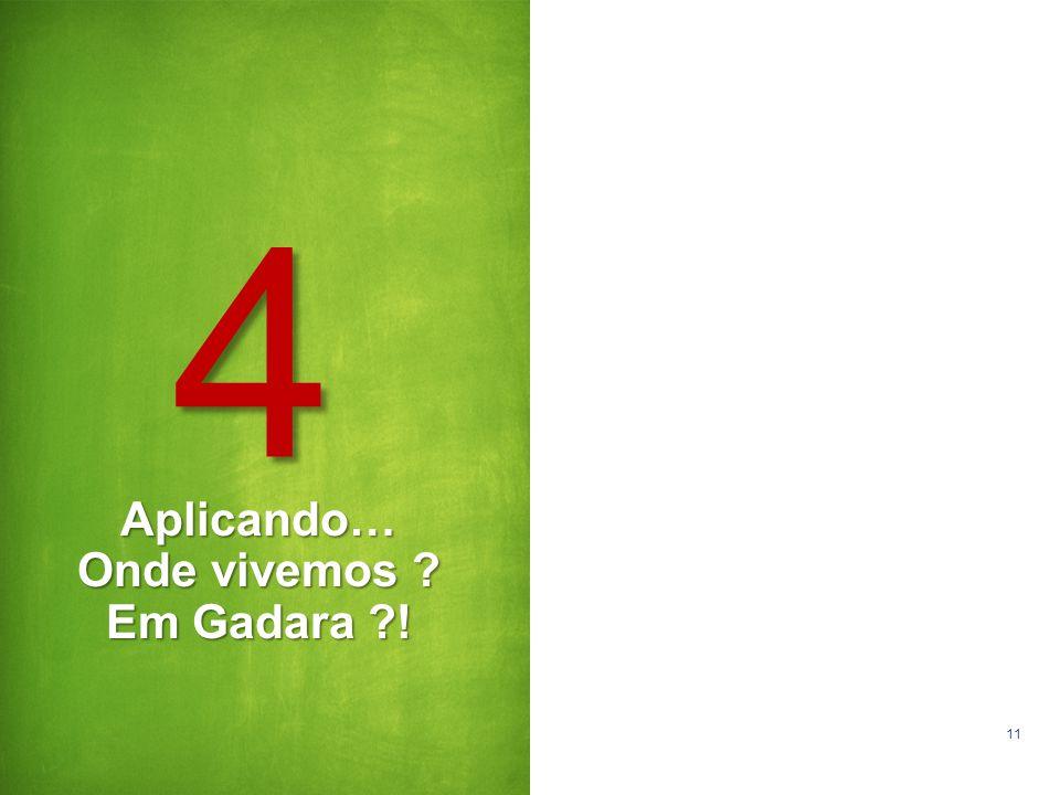Aplicando… Onde vivemos Em Gadara !