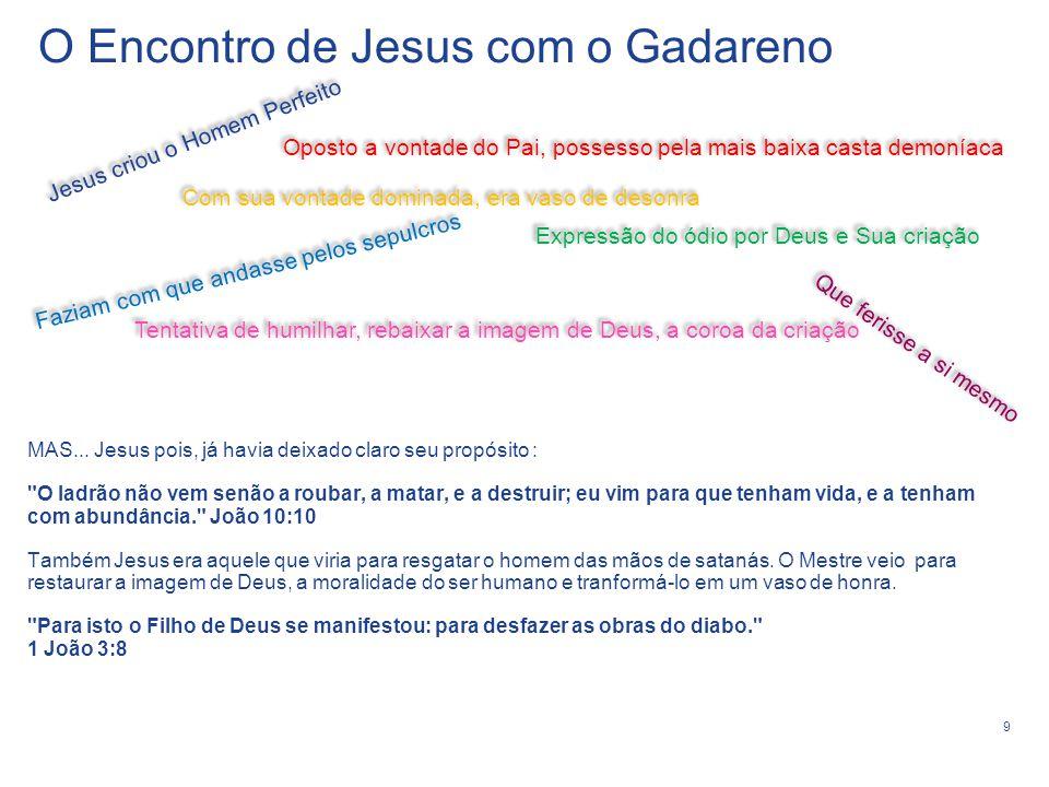 O Encontro de Jesus com o Gadareno
