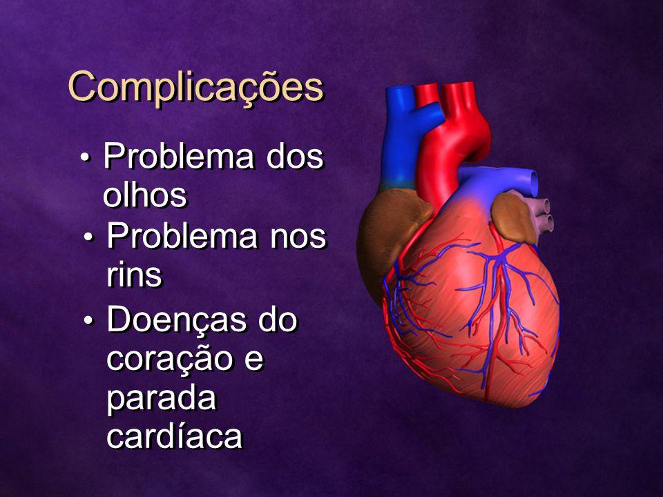 Complicações Problema dos olhos Problema nos rins
