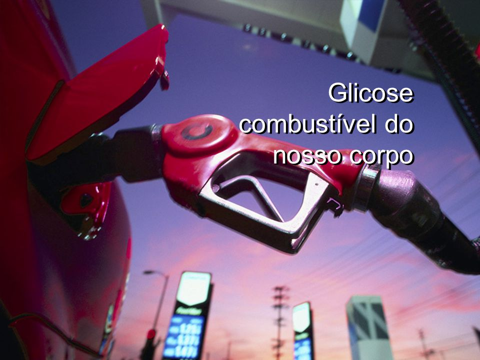 Glicose combustível do nosso corpo