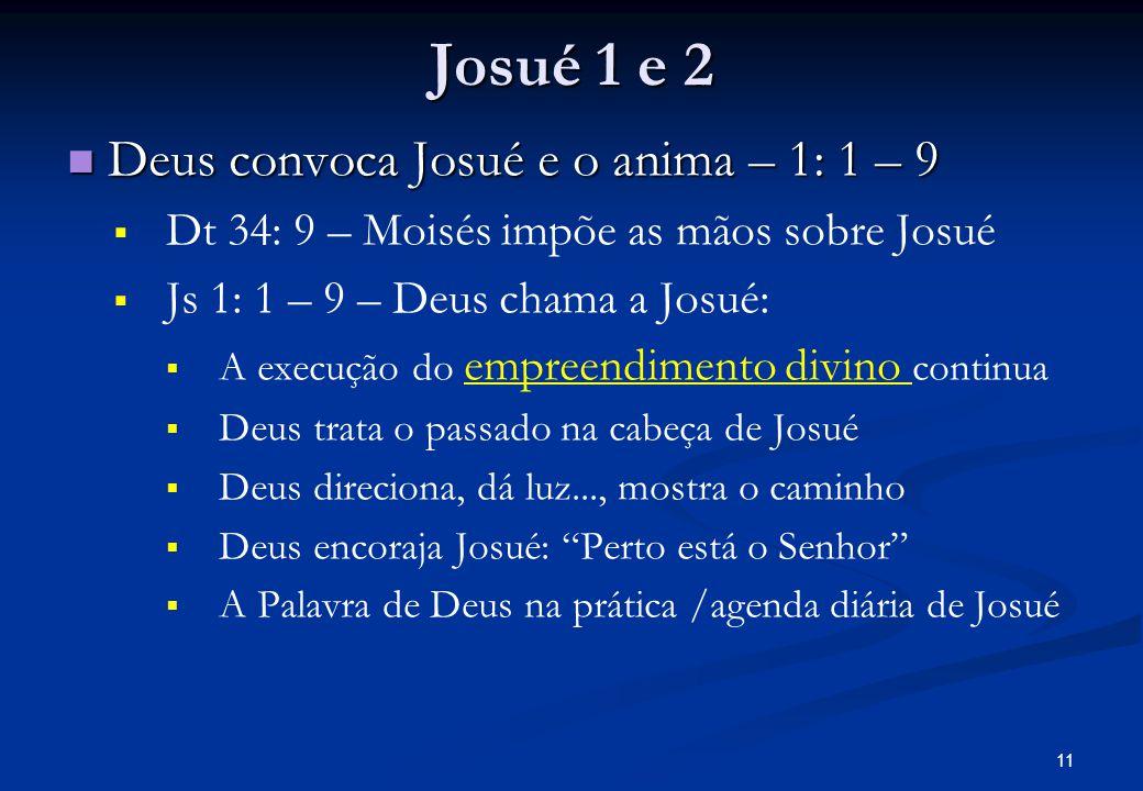 Josué 1 e 2 Deus convoca Josué e o anima – 1: 1 – 9