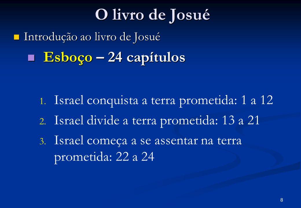 O livro de Josué Esboço – 24 capítulos