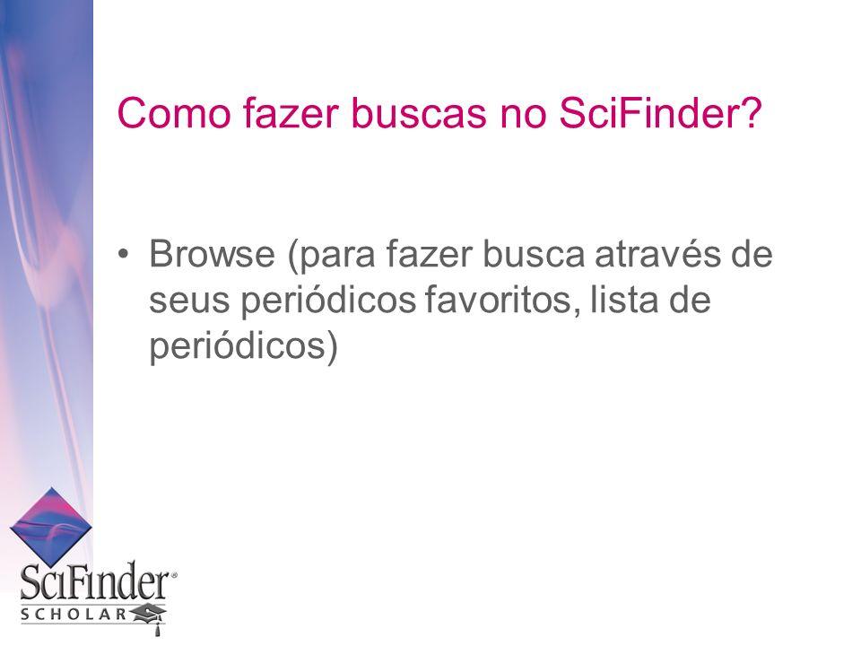 Como fazer buscas no SciFinder