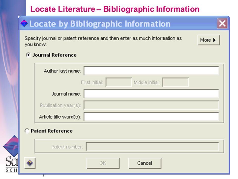 Locate Literature – Bibliographic Information