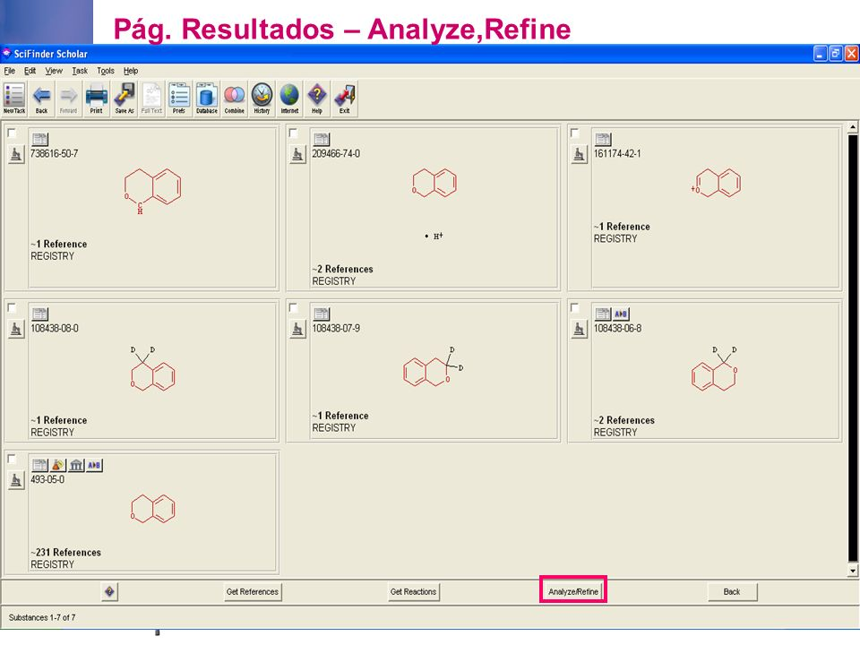Pág. Resultados – Analyze,Refine