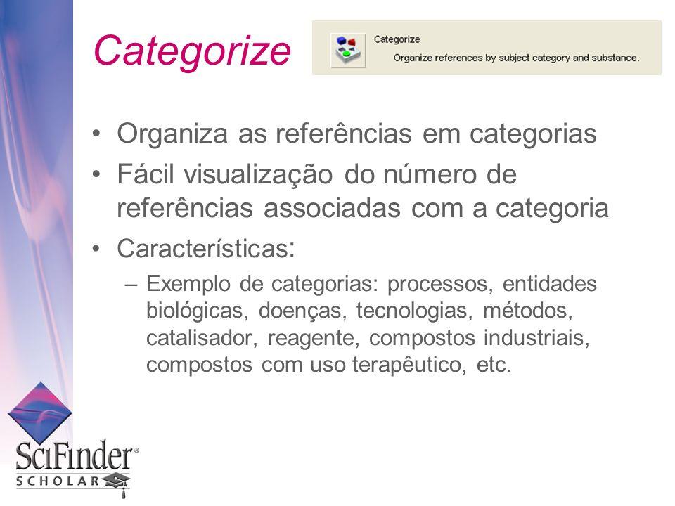 Categorize Organiza as referências em categorias