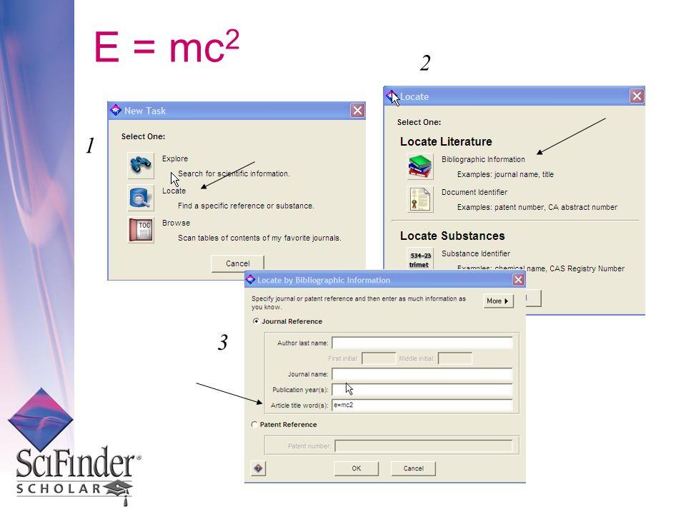 E = mc2 2 1 3