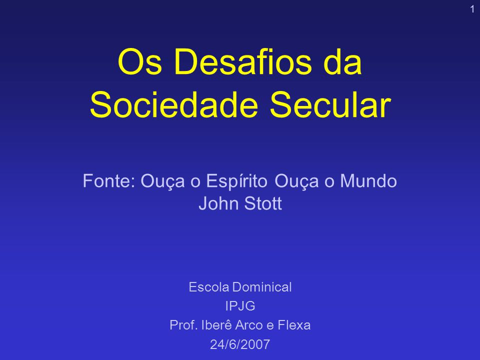 Escola Dominical IPJG Prof. Iberê Arco e Flexa 24/6/2007