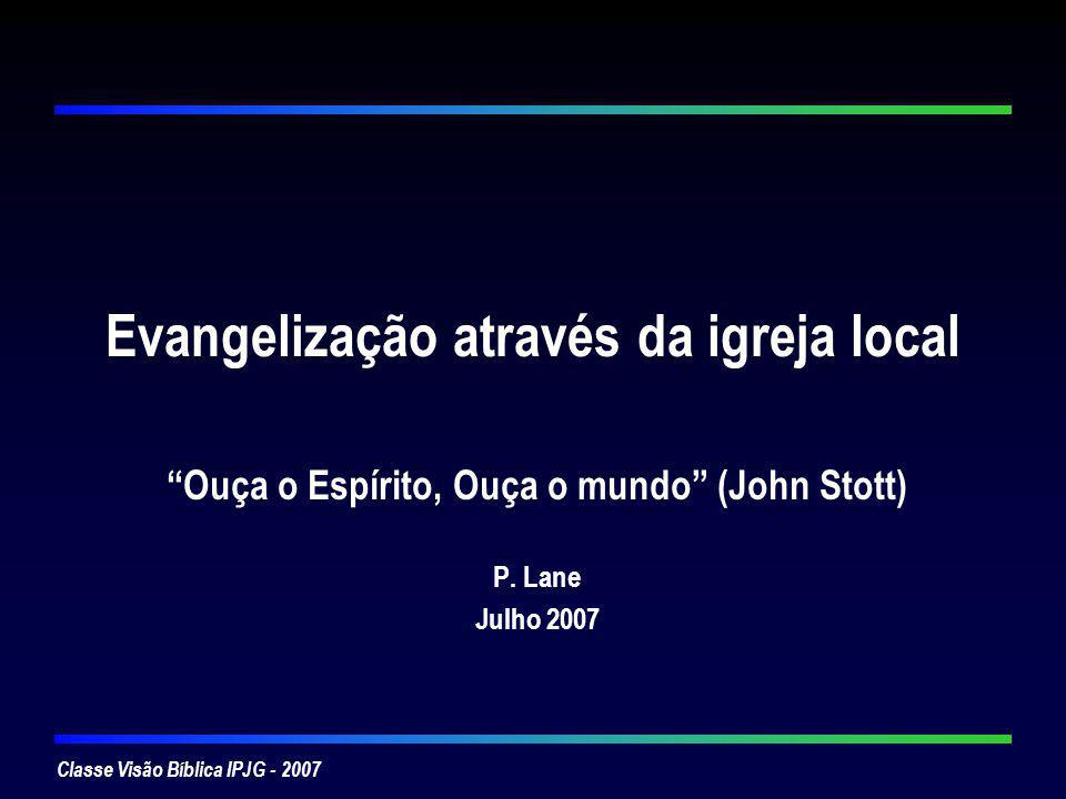 Evangelização através da igreja local