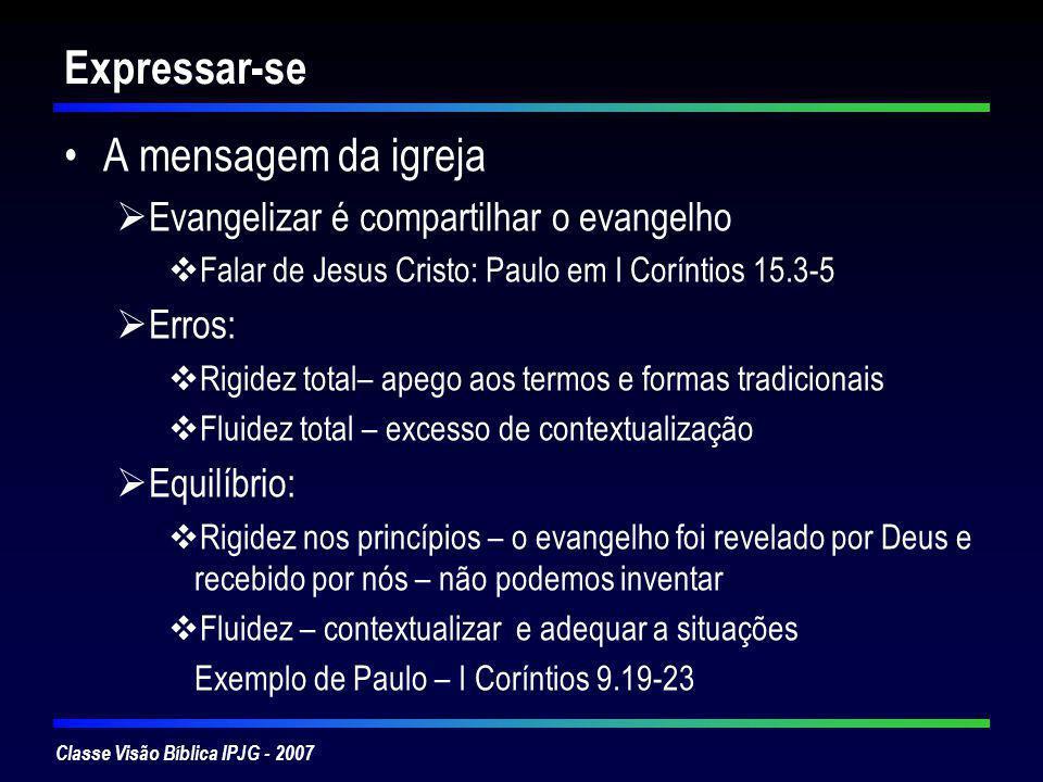 Expressar-se A mensagem da igreja