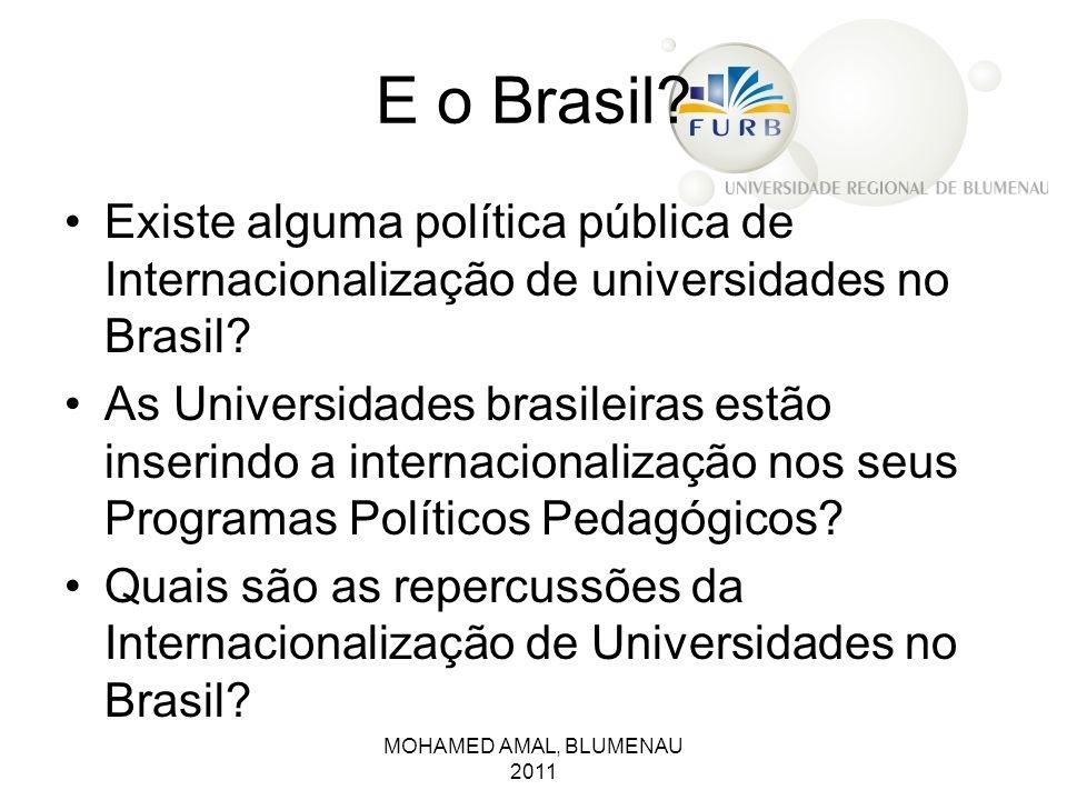 E o Brasil Existe alguma política pública de Internacionalização de universidades no Brasil