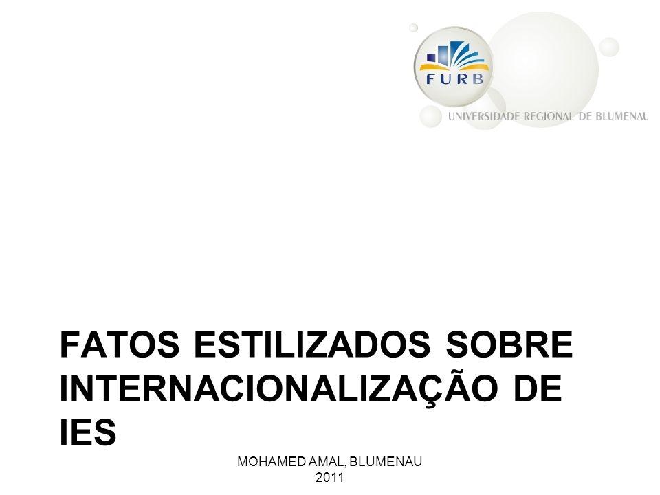 FATOS ESTILIZADOS SOBRE INTERNACIONALIZAÇÃO DE IES