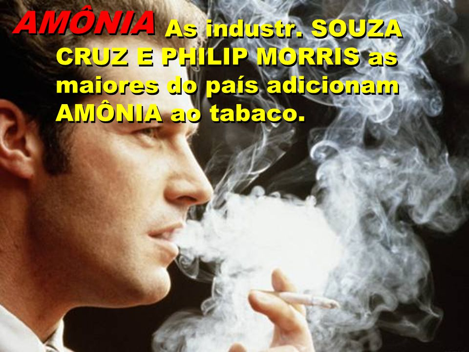 AMÔNIA As industr . SOUZA CRUZ E PHILIP MORRIS as maiores do