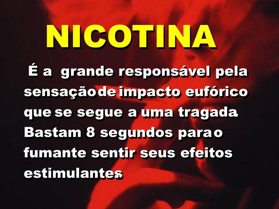 NICOTINA É a É a grande responsável pela grande responsável pela