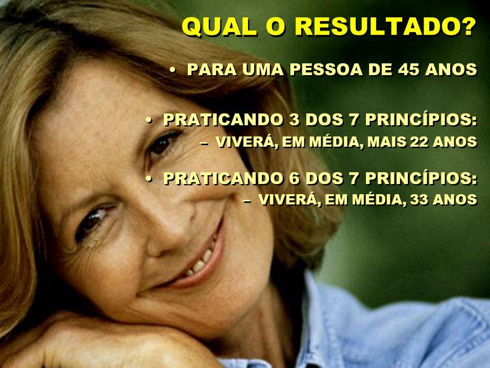 QUAL O RESULTADO PARA UMA PESSOA DE 45 ANOS