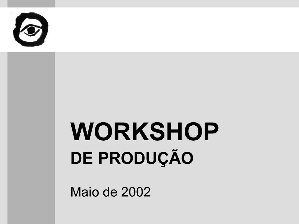 WORKSHOP DE PRODUÇÃO Maio de 2002