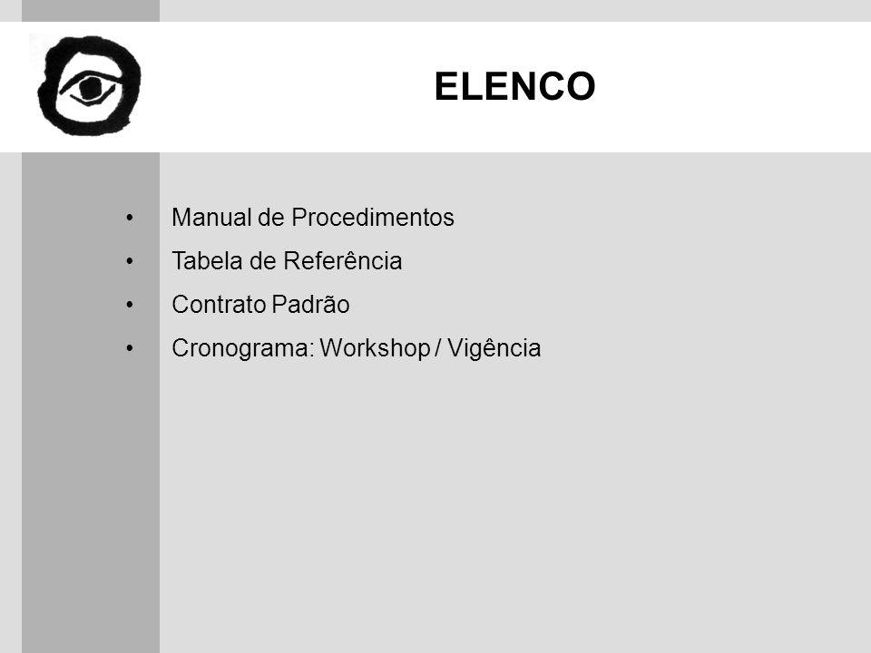 ELENCO Manual de Procedimentos Tabela de Referência Contrato Padrão