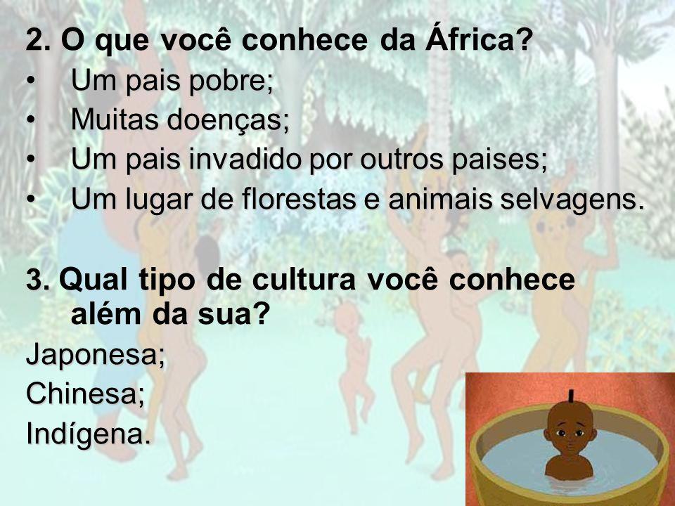2. O que você conhece da África