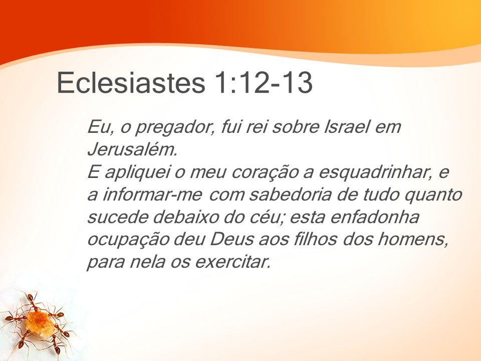 Eclesiastes 1:12-13