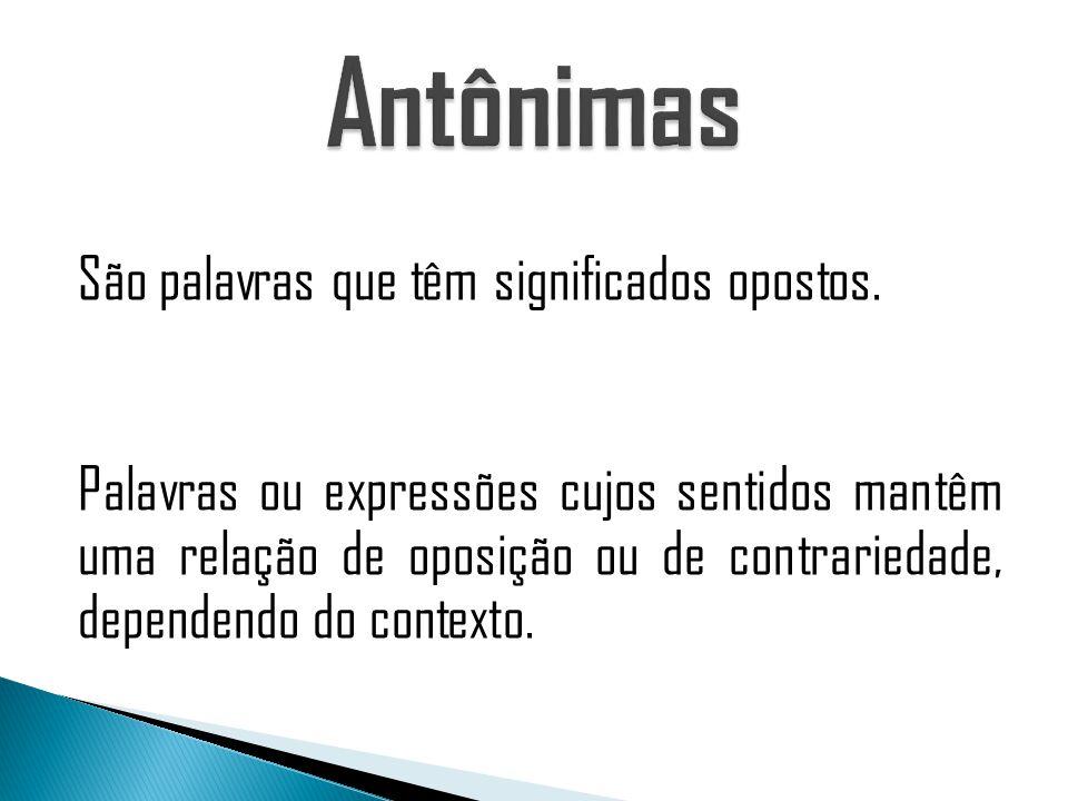 Antônimas
