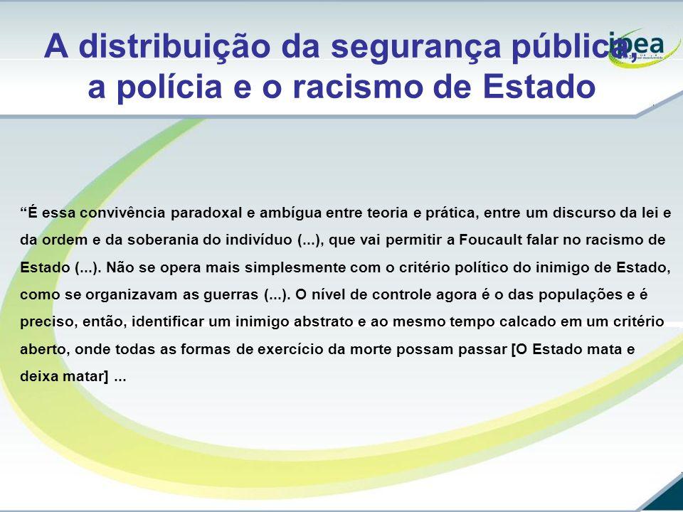 A distribuição da segurança pública, a polícia e o racismo de Estado