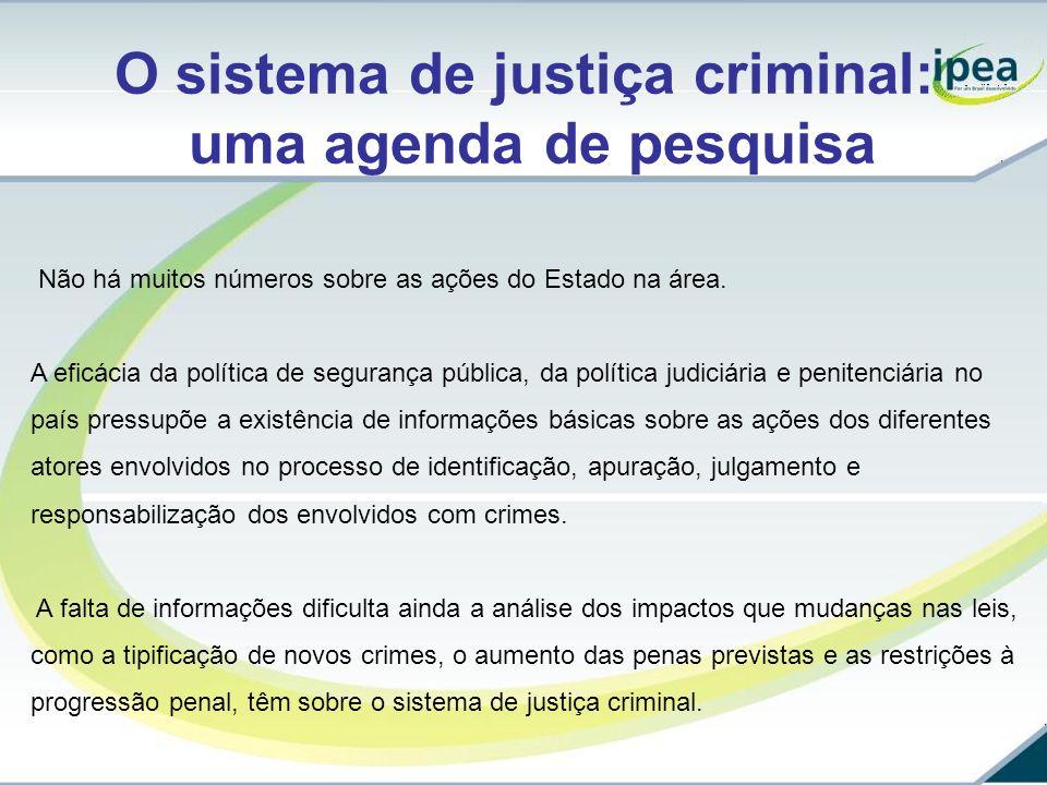 O sistema de justiça criminal: uma agenda de pesquisa
