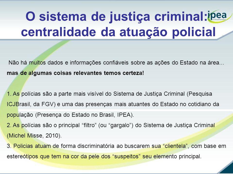 O sistema de justiça criminal: centralidade da atuação policial