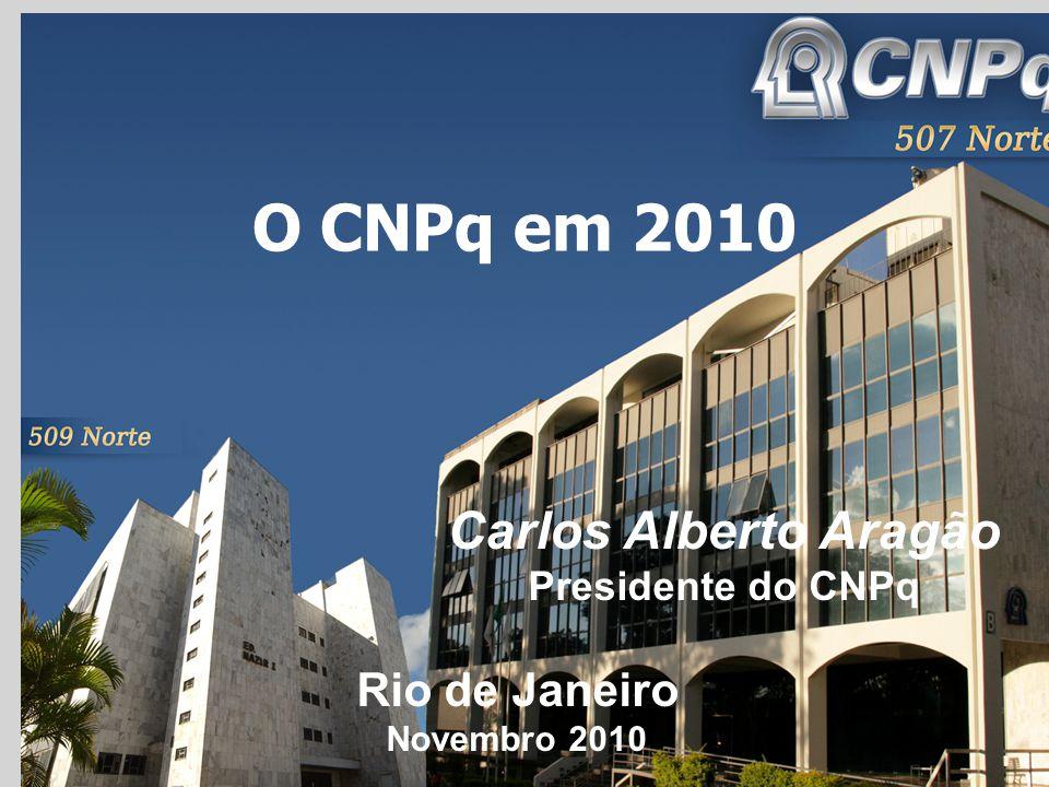 O CNPq em 2010 Carlos Alberto Aragão Rio de Janeiro Presidente do CNPq