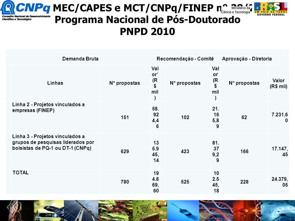 Edital MEC/CAPES e MCT/CNPq/FINEP nº 28/2010