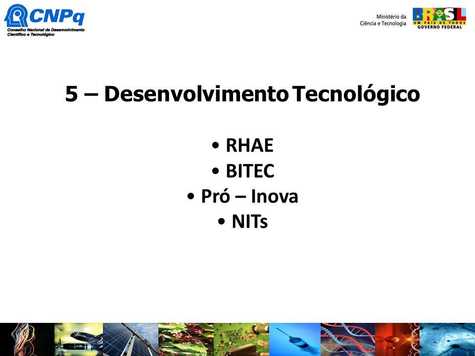 5 – Desenvolvimento Tecnológico