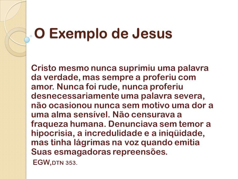 O Exemplo de Jesus