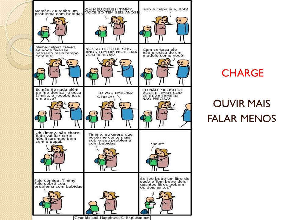 CHARGE OUVIR MAIS FALAR MENOS