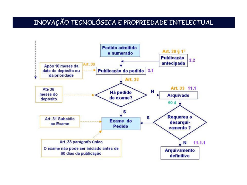 INOVAÇÃO TECNOLÓGICA E PROPRIEDADE INTELECTUAL