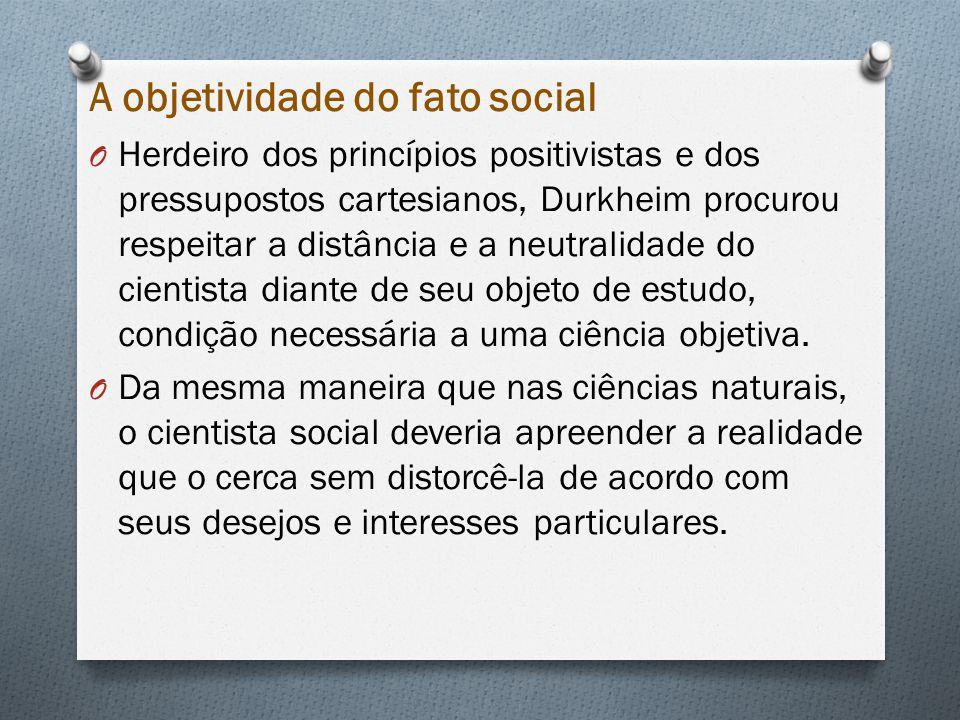 A objetividade do fato social