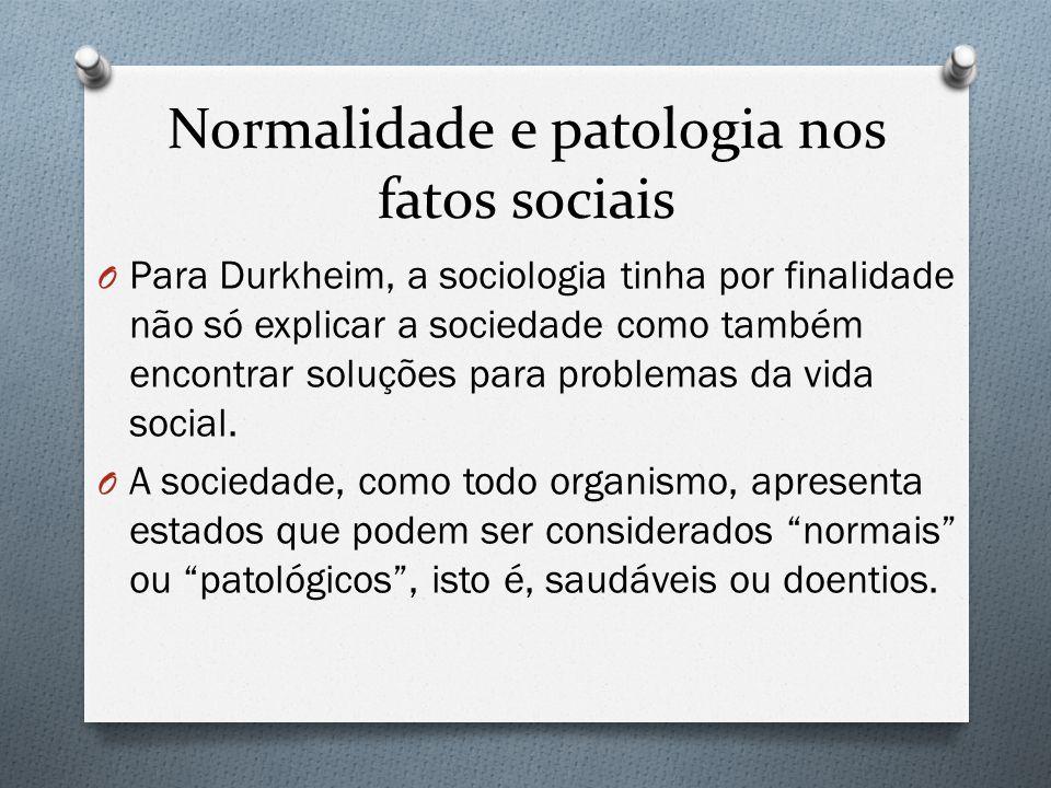 Normalidade e patologia nos fatos sociais