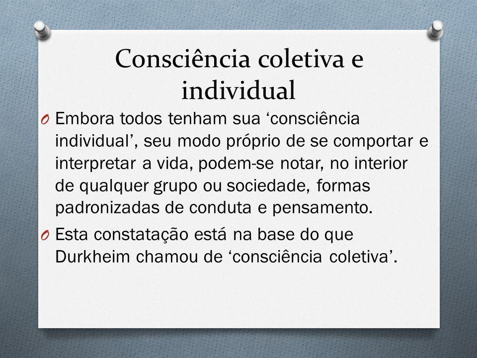 Consciência coletiva e individual