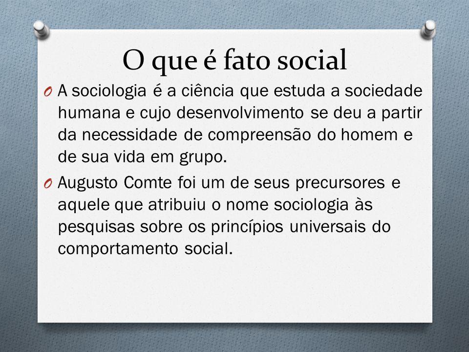 O que é fato social