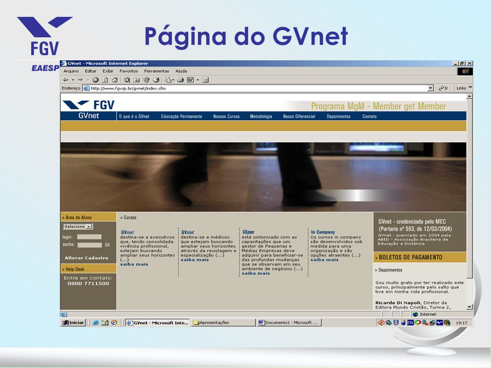 Página do GVnet